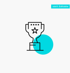award top position reward turquoise highlight vector image
