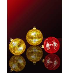 bauble reflection vector image