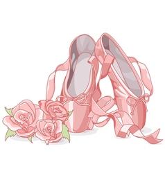 Beautiful ballet slippers vector image