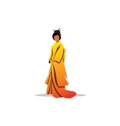Beautiful Japanese geisha sign Traditional dress vector image