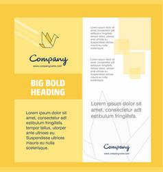 bird company brochure title page design company vector image