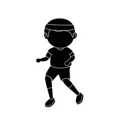 Boy running cartoon vector
