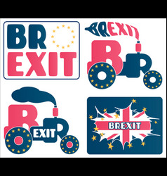 brexit - uk exit from european union eu a set of vector image