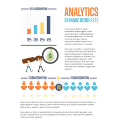 business analytics banner with businessmen vector image