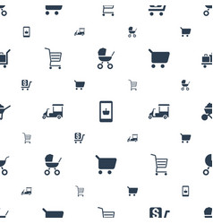 Cart icons pattern seamless white background vector