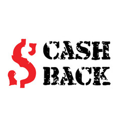 cash back sticker vector image