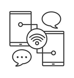 chatting linear icon vector image
