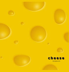 cheese background with holes vector image