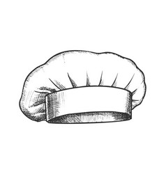 chef hat professional cooker clothing ink vector image