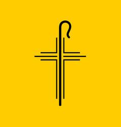 Christian symbols cross jesus vector