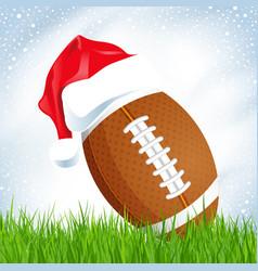 christmas american football vector image