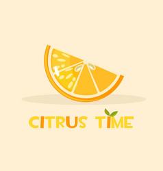 citrus orange hello summer time vector image