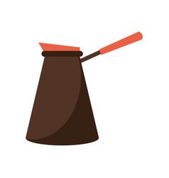 Coffee pot steel image vector