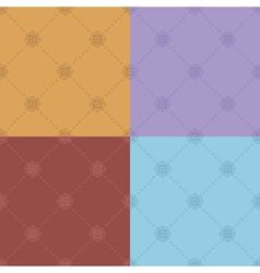color seamless patterns - set vector image