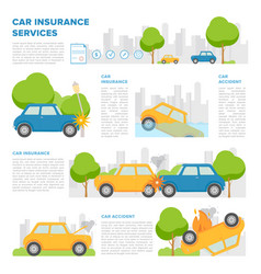 concept of car insurance against various incidents vector image
