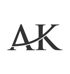Creative letter ak logo icon vector