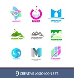 Creative logo icon set vector