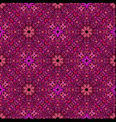 Deep pink oriental gravel mosaic ethno pattern vector