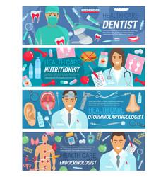 Dentistry endocrinology healthcare medicine vector