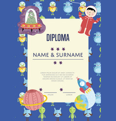 Diploma cartoon template vector