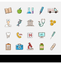 Doodle Healthcare icons vector image