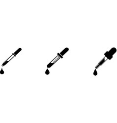 Dropper icons isolated on white background vector