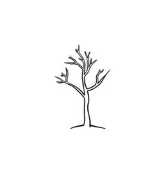 dry tree hand drawn sketch icon vector image