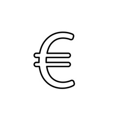euro line icon black vector image
