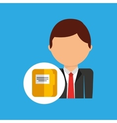 File business man suit worker icon vector