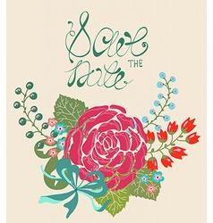 Floral frame for wedding invitation design vector