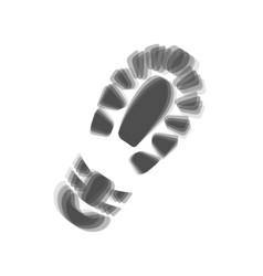 footprint boot sign gray icon shaked at vector image