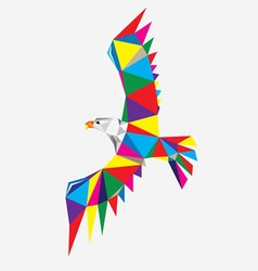 Geometric Eagle vector image