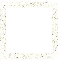 Golden splash or glittering spangles square frame vector