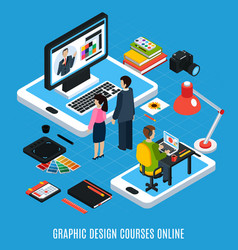 Graphic design course concept vector