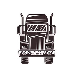 Heavy truck front view vector