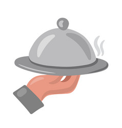 Hot dish icon vector