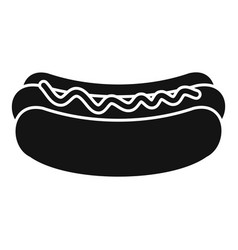 hot dog icon simple style vector image