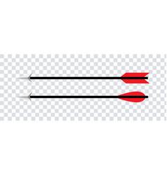 Hunting arrow isolated elements arrowhead design vector