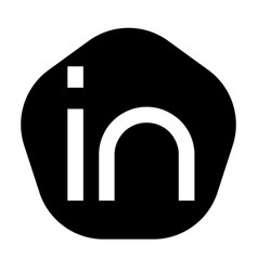 In logo letters in pentagon flat outline vector