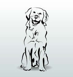 Ink sketch of dog vector