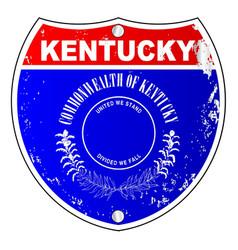 kentucky interstate sign vector image