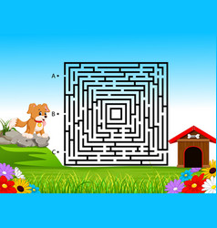 Labyrinth game for preschool children vector