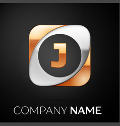 letter j logo symbol in the colorful square on vector image