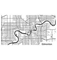 Map edmonton city alberta canada horizontal vector