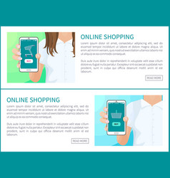online shopping web pages vector image