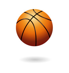 Orange basketball object vector