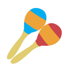 Pair of maracas vector