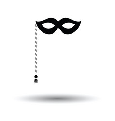 party carnival mask icon vector image