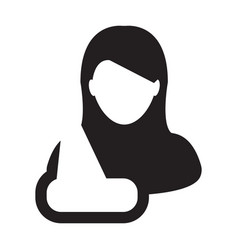 patient icon of female person profile avatar vector image