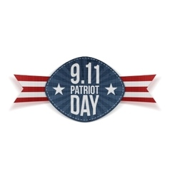 Patriot Day 9-11 Banner with Ribbon vector